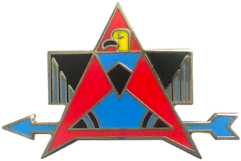Cloisonné Thunderbird Pin