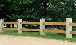 Custom Morticed Post Two Board Fence by Wilkins Fencing