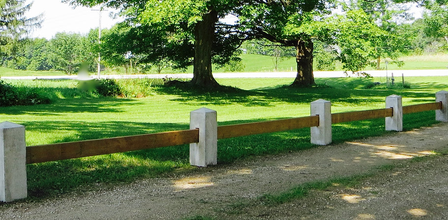 Custom Morticed Post One Board Driveway Fence by Wilkins Fencing
