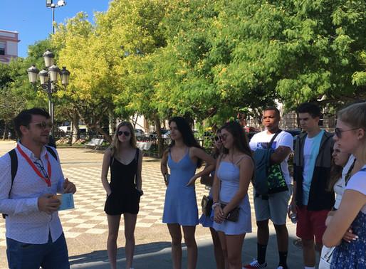 Primer dia de clases y mini tour por las plazas de Cadiz