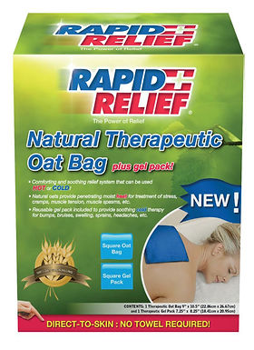 NATURAL THERAPEUTIC OAT BAG C/W GEL PACK (SQUARE)