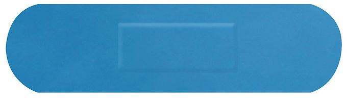 HYGIO PLAST BLUE DETECTABLE PLASTERS MEDIUM STRIP