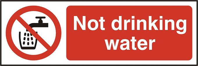 NOT DRINKING WATER SAV  (PK5) 75MM X 150MM