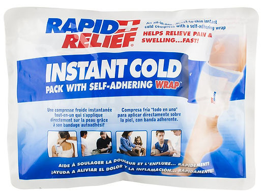 """INSTANT COLD PACK C/W SELF ADHERING WRAP 5""""x 9"""""""