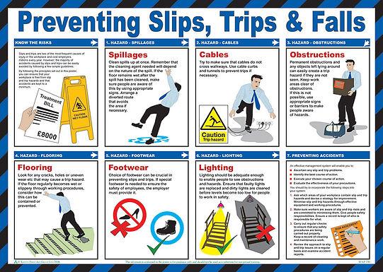 PREVENTING SLIPS TRIPS POSTER
