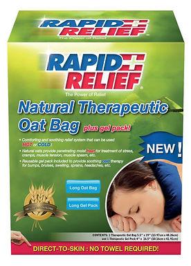 NATURAL THERAPEUTIC OAT BAG C/W GEL PACK (LONG)