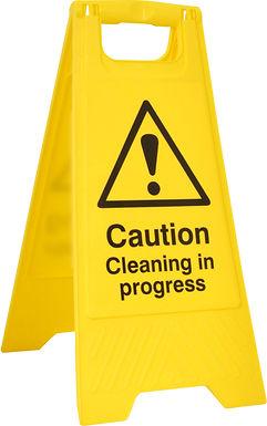 CLEANING IN PROGRESS A BOARD