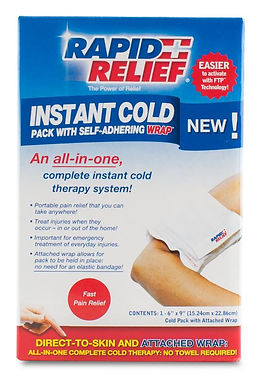 """INSTANT COLD PACK C/W SELF ADHERING WRAP 5""""x9"""" RETAIL BOX"""