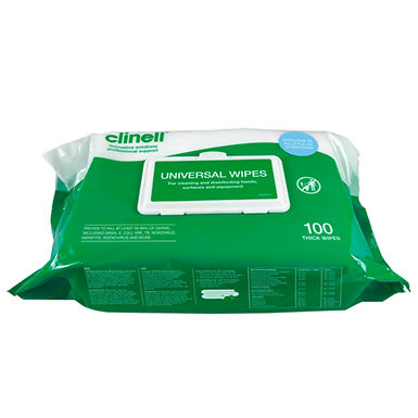 CLINELL UNIVERSAL WIPES BCW100 PACK OF 100