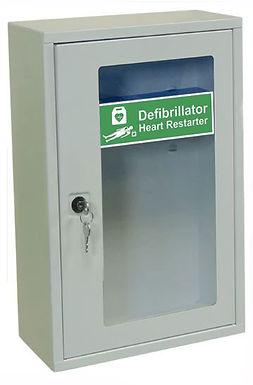 INDOOR DEFIBRILLATOR CABINET WITH KEY LOCK