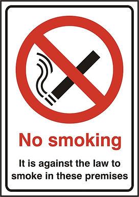 NO SMOKING RPVC (PK5) 148MM X 210MM