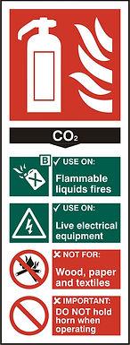 FIRE EXTINGUISHER CO2 RPVC PK5 82MM X 202MM