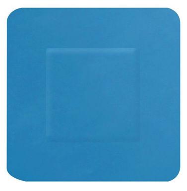 HYGIO PLAST BLUE DETECTABLE PLASTERS SQUARE 38x38mm