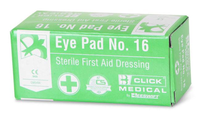 CLICK MEDICAL EYEPAD NO 16 BOXED