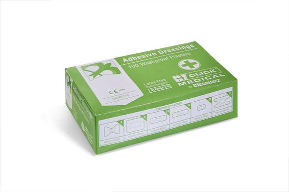 CLICK MEDICAL WATERPROOF PLASTERS ASSORTED