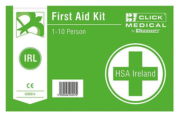 1-10 HSE IRISH 1ST AID KIT LAB C/W EYEWASH/BURN DRESSINGS