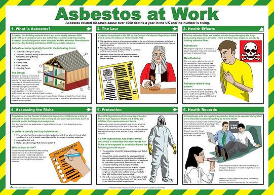 CLICK MEDICAL ASBESTOS AT WORK POSTER A718