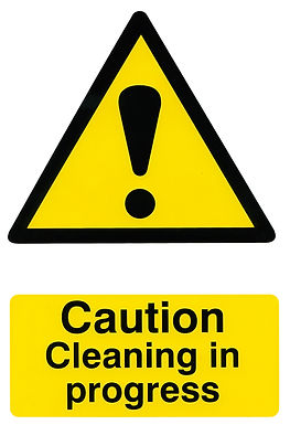CAUTION CLEANING IN PROGRESS 200MM X 300MM