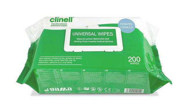 CLINELL UNIVERSAL WIPES CW200