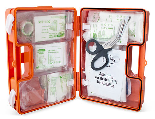 GERMAN WORKPLACE FIRST AID KIT DIN 13157 UP TO 50 EMPLOYEES