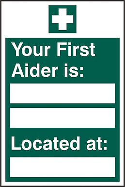 FIRST AIDER LOCATED RPVC (PK5) 200MM X 300MM