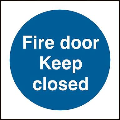 FIRE DOOR KEEP CLOSED SAV(PK5) 150MM X 150MM