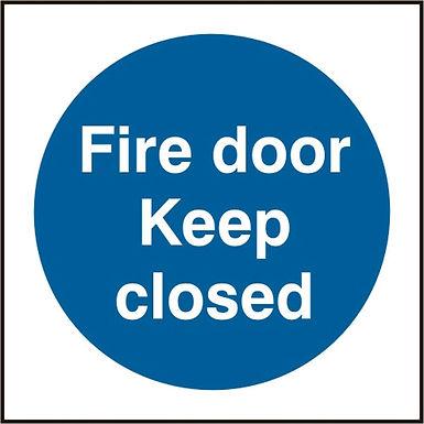 FIRE DOOR KEEP CLOSED SAV(PK5) 100MM X 100MM