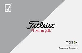 TICKBOX Promo - Titleist Corporate Sales