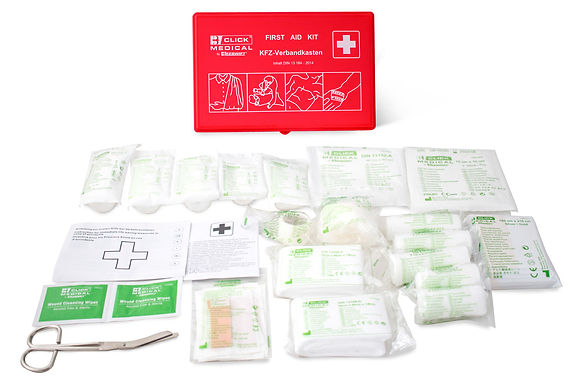 GERMAN VEHICLE FIRST AID KIT DIN 13164 IN TRAVEL BOX