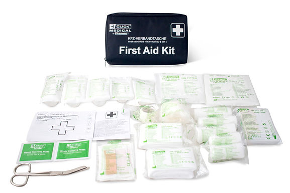 GERMAN VEHICLE FIRST AID KIT DIN 13164 IN TRAVEL BAG