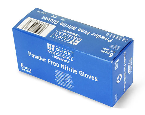 NITRILE GLOVES 6 PAIRS IN A CARTON