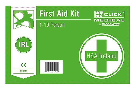 1-10 HSE IRISH 1ST AID KIT LABEL WITH BURN DRESSING