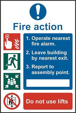 FIRE ACTION PROCEDURE RPVC PK5 200MM X 300MM