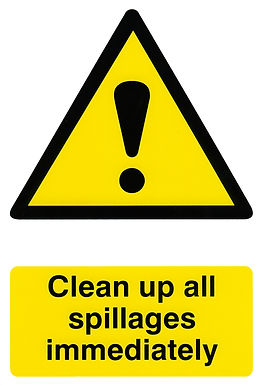 CLEAN UP ALL SPILLAGES 200MM X 300MM