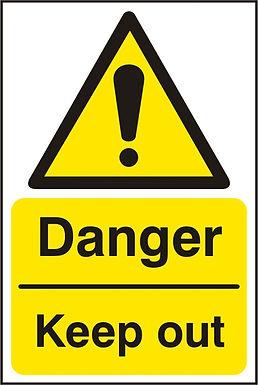 DANGER KEEP OUT RPVC (PK5) 200MM X 300MM