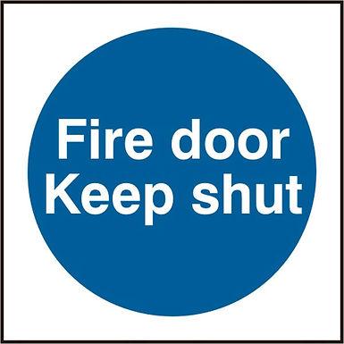 FIRE DOOR KEEP SHUT RPVC (PK5) 100MM X 100MM