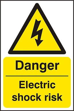 DANGER ELECTRIC SHOCK SAV(PK5) 200MM X 300MM