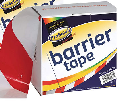 RED/WHITE BARRIER TAPE