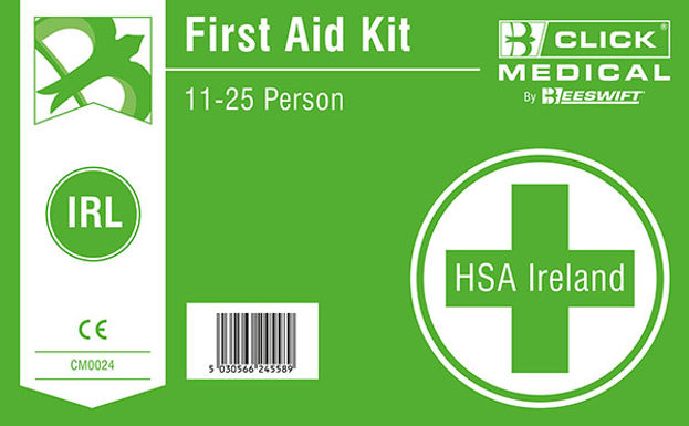 11-25 HSA IRISH 1ST AID KIT LAB C/W EYEWASH/BURN DRESSING