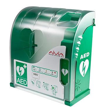 AIVIA 200 DEFIBRILLATOR CABINET WITH HEATING & ALARM