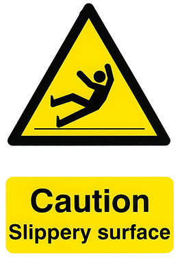 CAUTION SLIPPERY SURFACE 200MM X 300MM