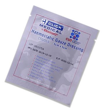 CLICK MEDICAL CUT-EEZE SOLUBLE DRESSING 5x5cm