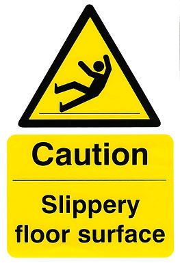 CAUTION SLIPPERY FLOOR SURFACE 200MM X 300MM (PACK 5)