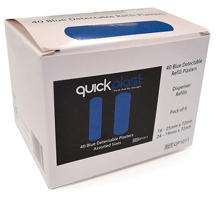CLICK MEDICAL QUICKPLAST BLUE DETECTABLE PLASTERS