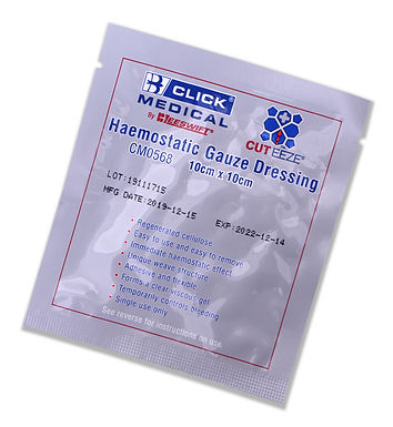 CLICK MEDICAL CUT-EEZE SOLUBLE DRESSING 10x10cm