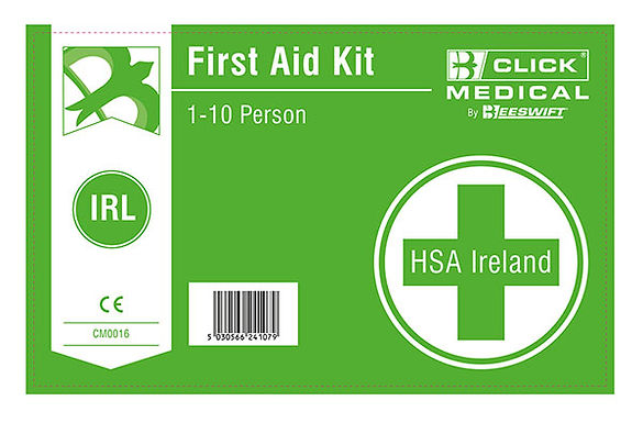 1-10 HSE IRISH 1ST AID KIT LABEL WITH EYEWASH