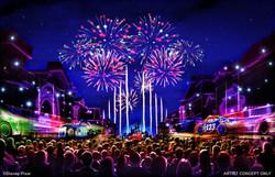 Pixar Fest Fire Works
