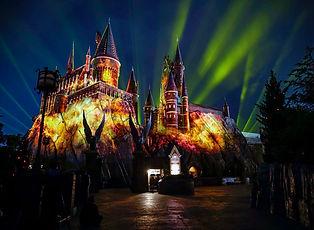 Nighttime-Lights-at-Hogwarts-Castle-at-I