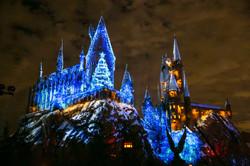 Hogwarts Castle Christmas Light Show