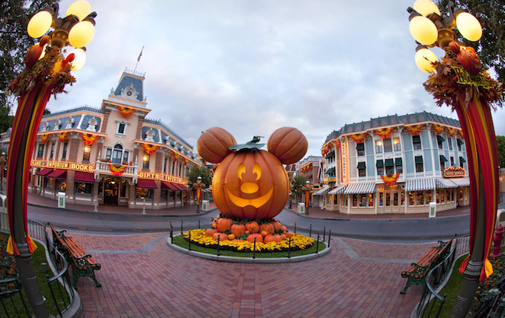 Massive Pumpkin on Main Street U.S.A
